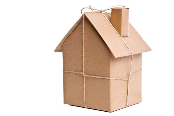 House In Brown Paper