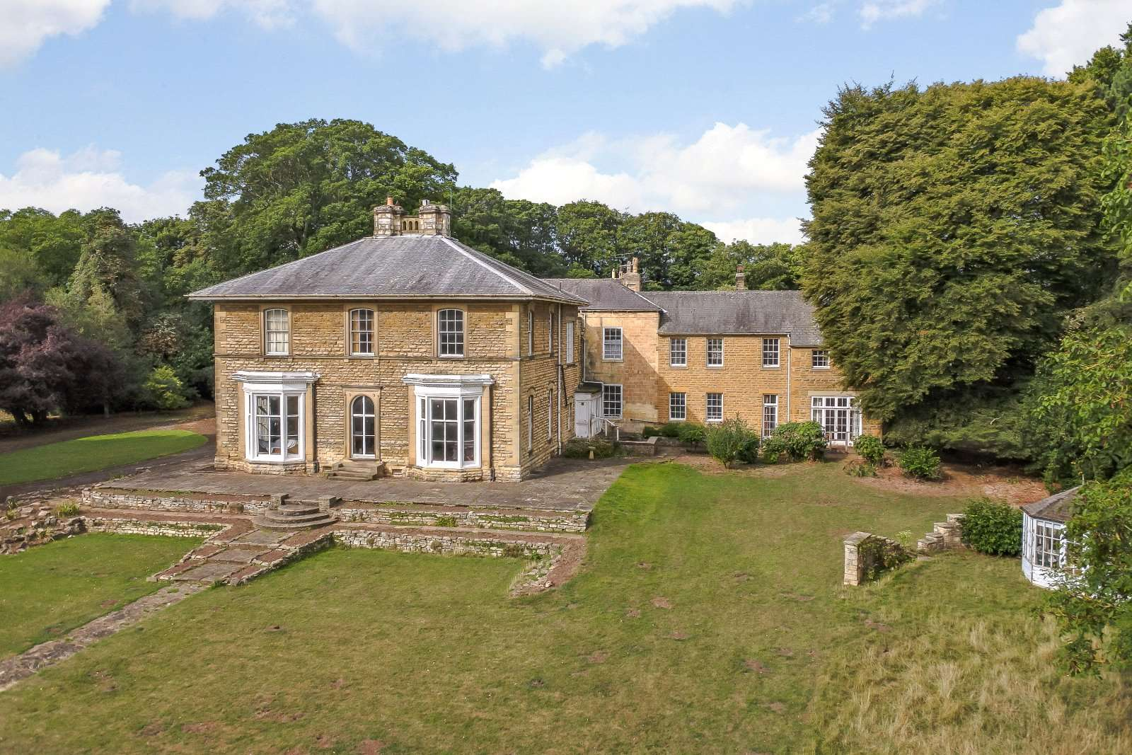Lying in a private but accessible location near tadcaster half way between leeds and york this 12000 sq ft home is one of the finest properties in the