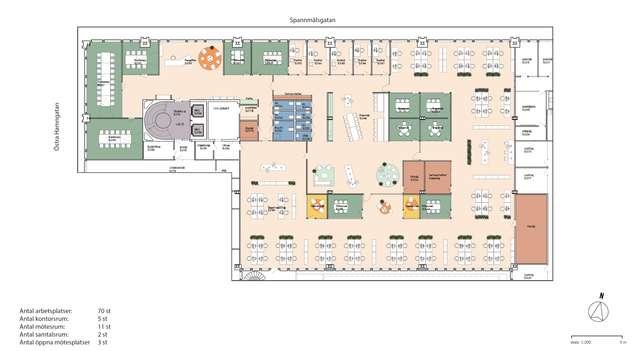 ostra Hamngatan 18, plan 5, 3 tr, ca 1262 m2